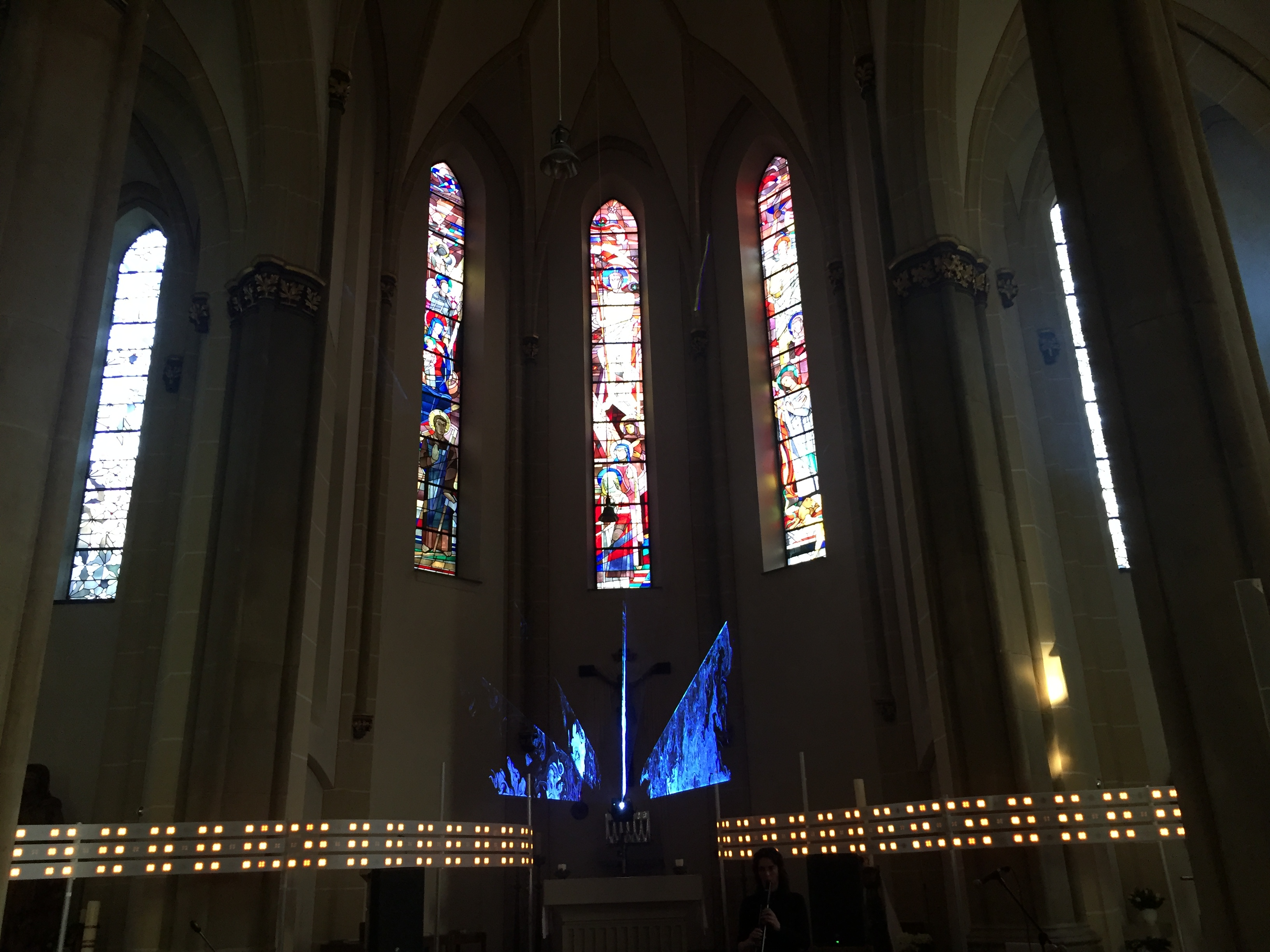 Meditative concert, Catholic Church in Moers, Germany, April 2018