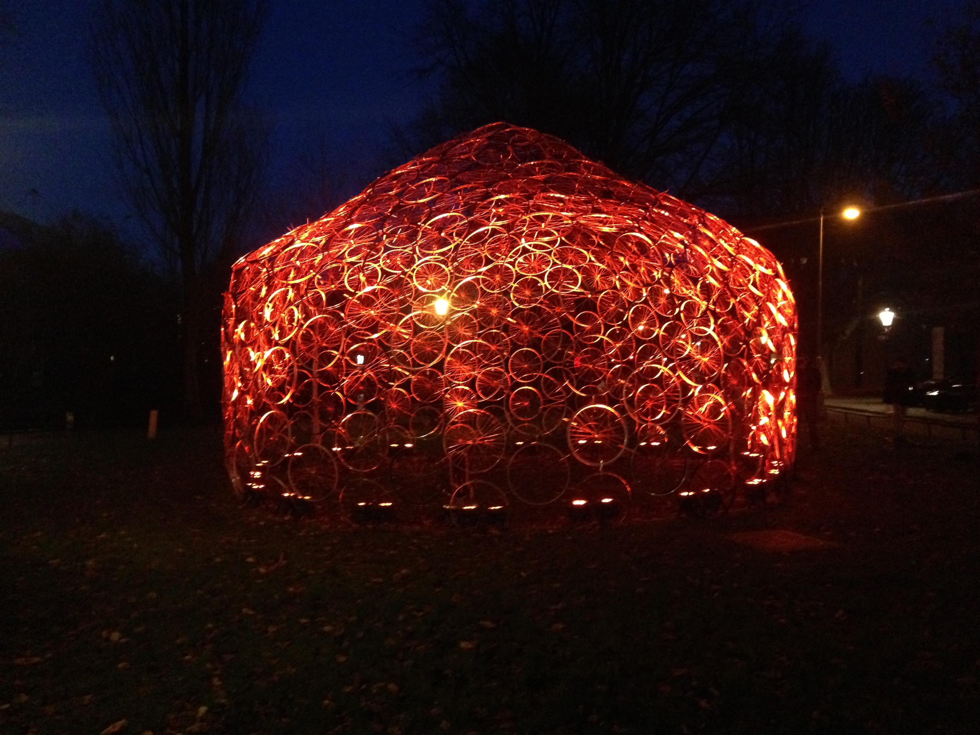 ReBycycle Dome, Amsterdam Light Festival 2015